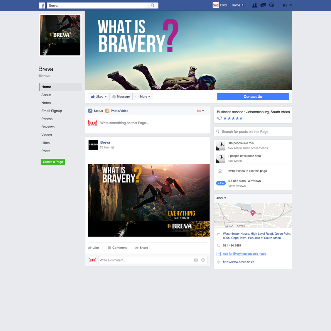Facebook profile & post