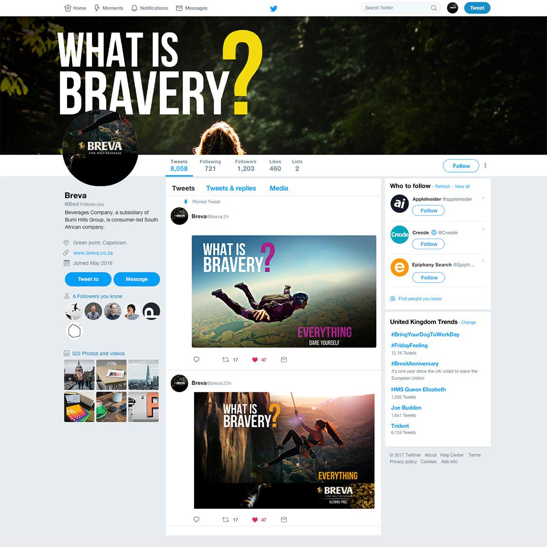 Twitter profile & post