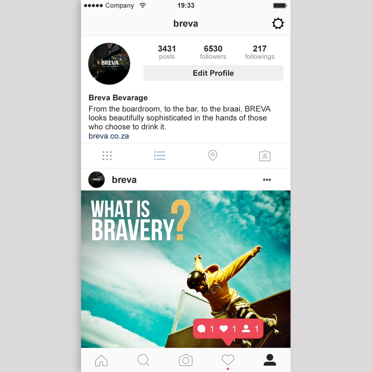 Instagram profile & post